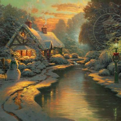 Christmas Wreath Thomas Kinkade Studios