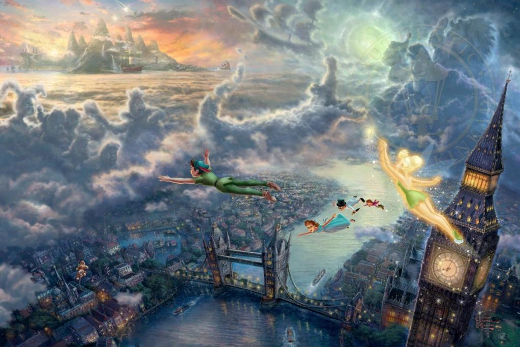 THOMAS KINKADE | Disney Paintings #artpeople