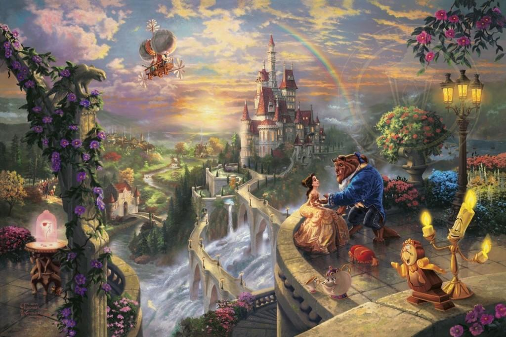 Lady and the Tramp – Limited Edition Art | The Thomas Kinkade Company