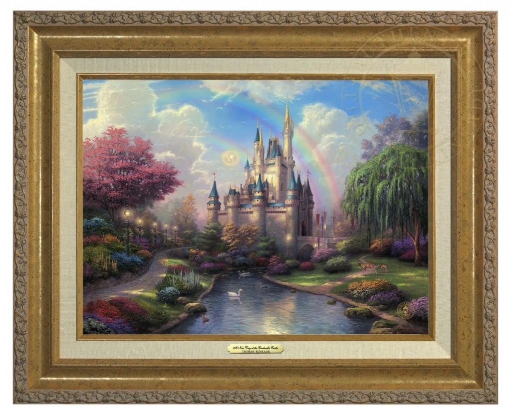 Beauty and the beast falling in love limited edition art the select options new day at the cinderella castle a canvas classic jeuxipadfo Image collections