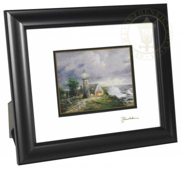 a light in the storm 8 x 10 framed matted print satin