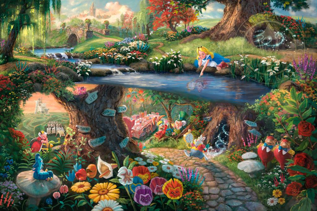alicew,THOMAS KINKADE | Disney Paintings #artpeople