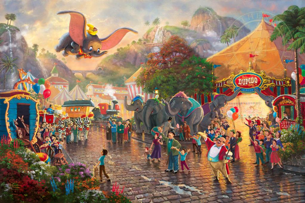 dumbo,THOMAS KINKADE | Disney Paintings #artpeople