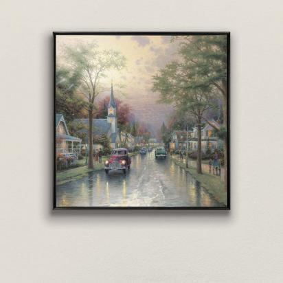 Framed Canvas Wall Murals Thomas Kinkade Masterworks Of Light Book