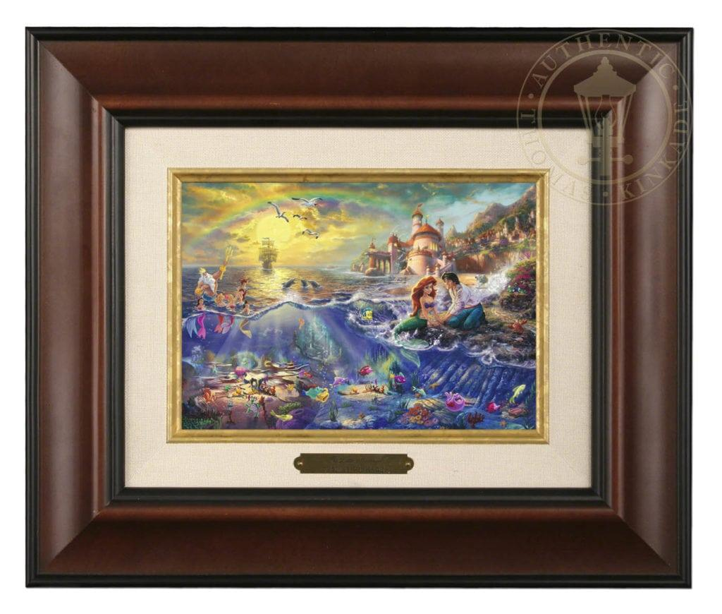 Little Mermaid The Nightlight Black Frame The Thomas Kinkade