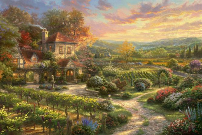 Wine Country Living 14 X 14 Gallery Wrapped Canvas Thomas