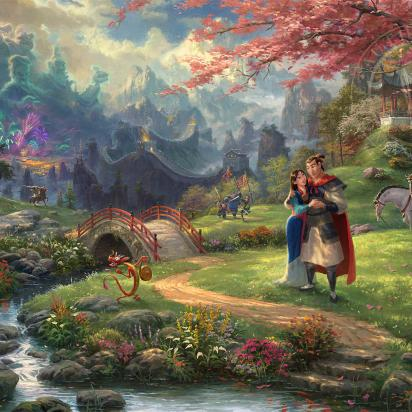 Disney Art Thomas Kinkade Studios