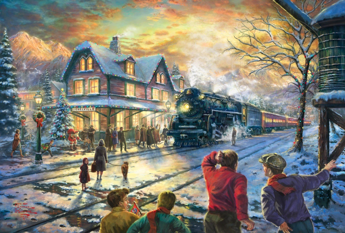 All Aboard for Christmas | The Thomas Kinkade Company