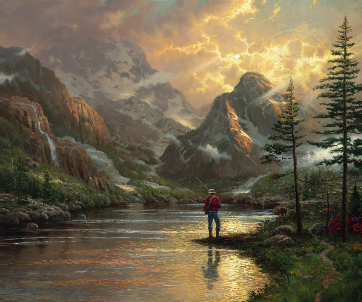 Almost heaven the thomas kinkade company for Prints of famous paintings for sale