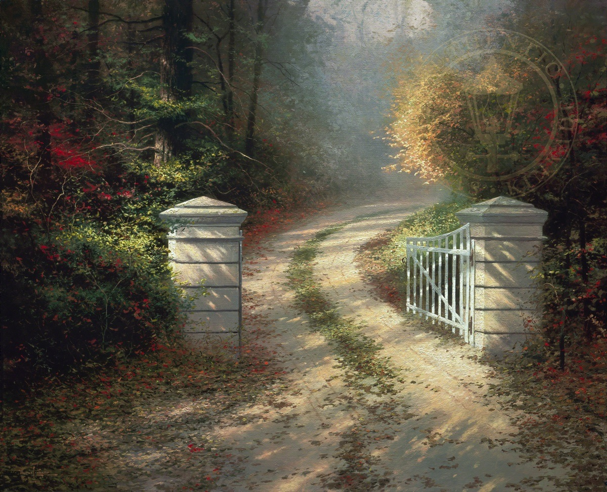 Thomas Kinkade Home Interiors The Autumn Gate The Thomas Kinkade Company