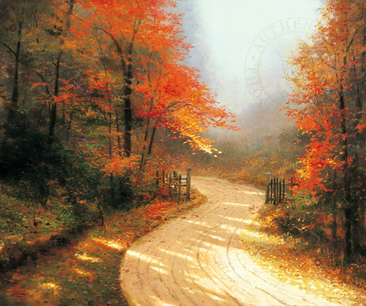 Autumn Lane | The Thomas Kinkade Company