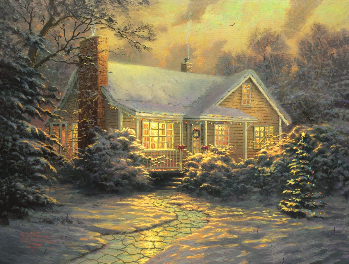 Christmas Cottage Movie Release The Thomas Kinkade Company