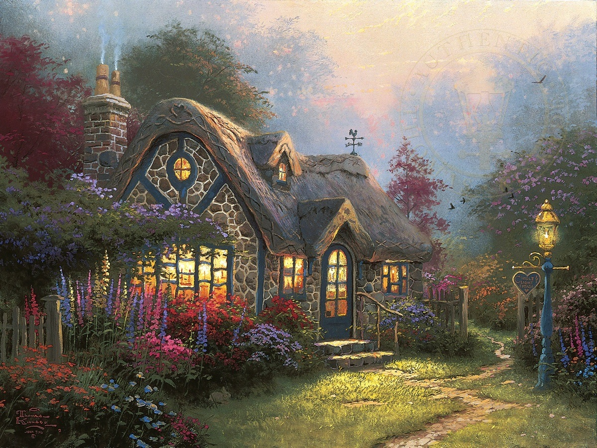 Incredible Thomas Kinkade Cottage Collection Home Interior And Landscaping Ologienasavecom