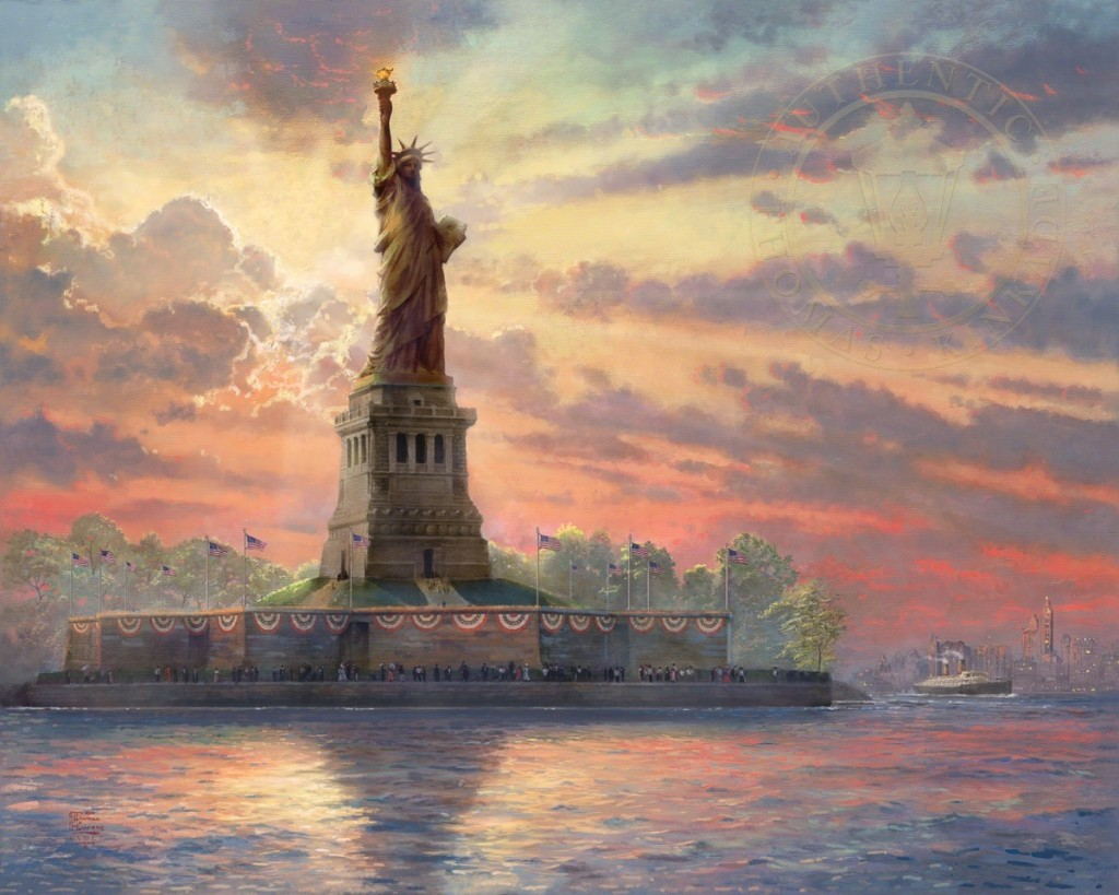 Thomas Kinkade Dedicated to Liberty