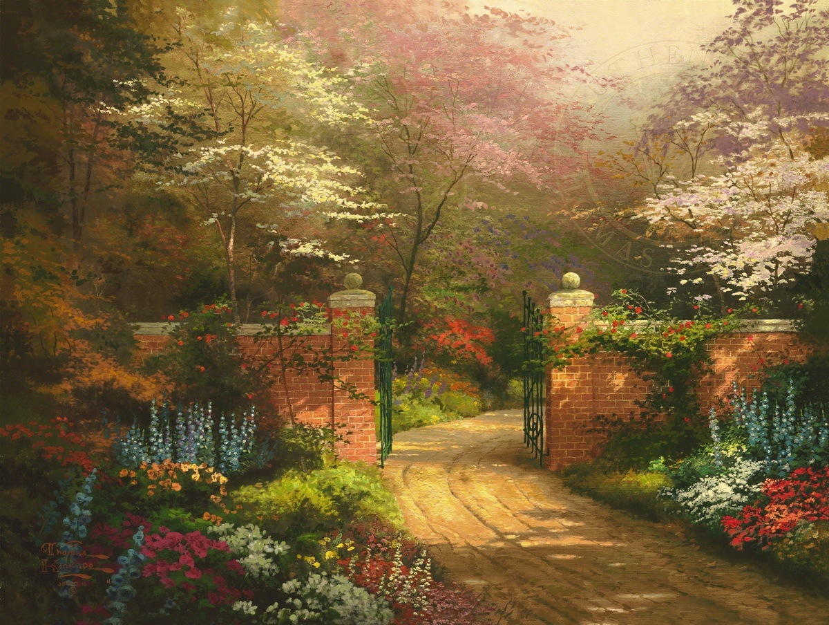 Gate Of New Beginnings The Thomas Kinkade Company