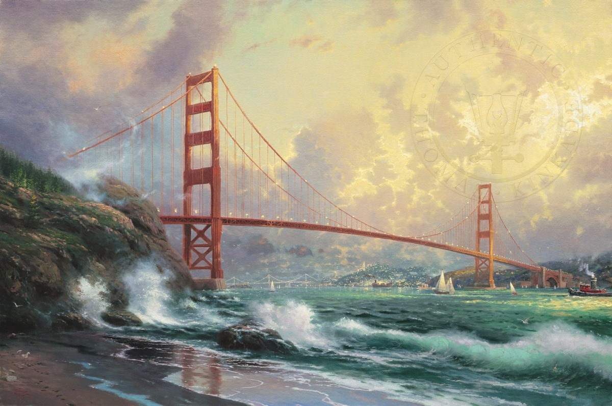 San Francisco Golden Gate Bridge The Thomas Kinkade Company