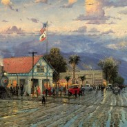 Hemet 1915, Florida Avenue at Dusk