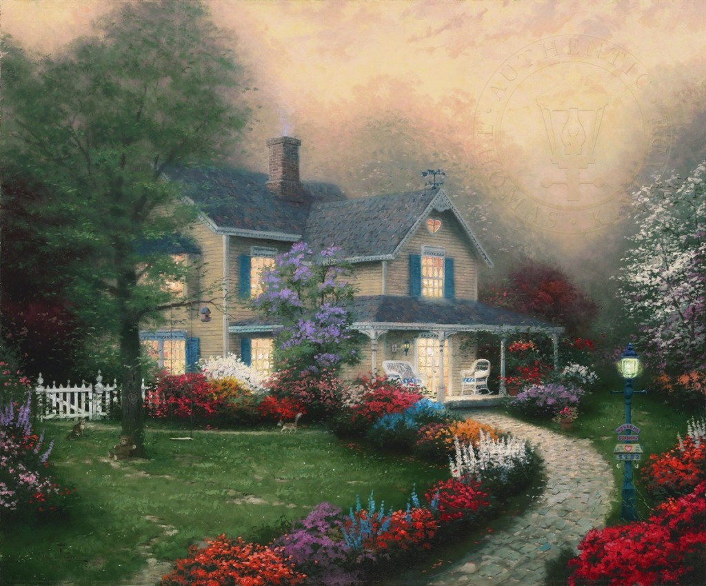 Thomas Kinkade Home Is Where The Heart Is