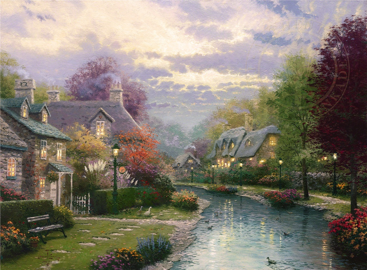 Lamplight Brooke The Thomas Kinkade Company