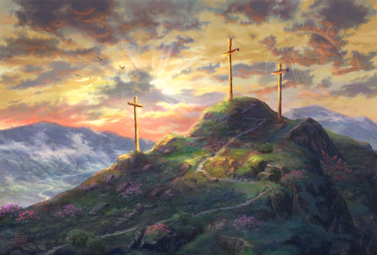 Remember me the thomas kinkade company for Cross paintings on canvas