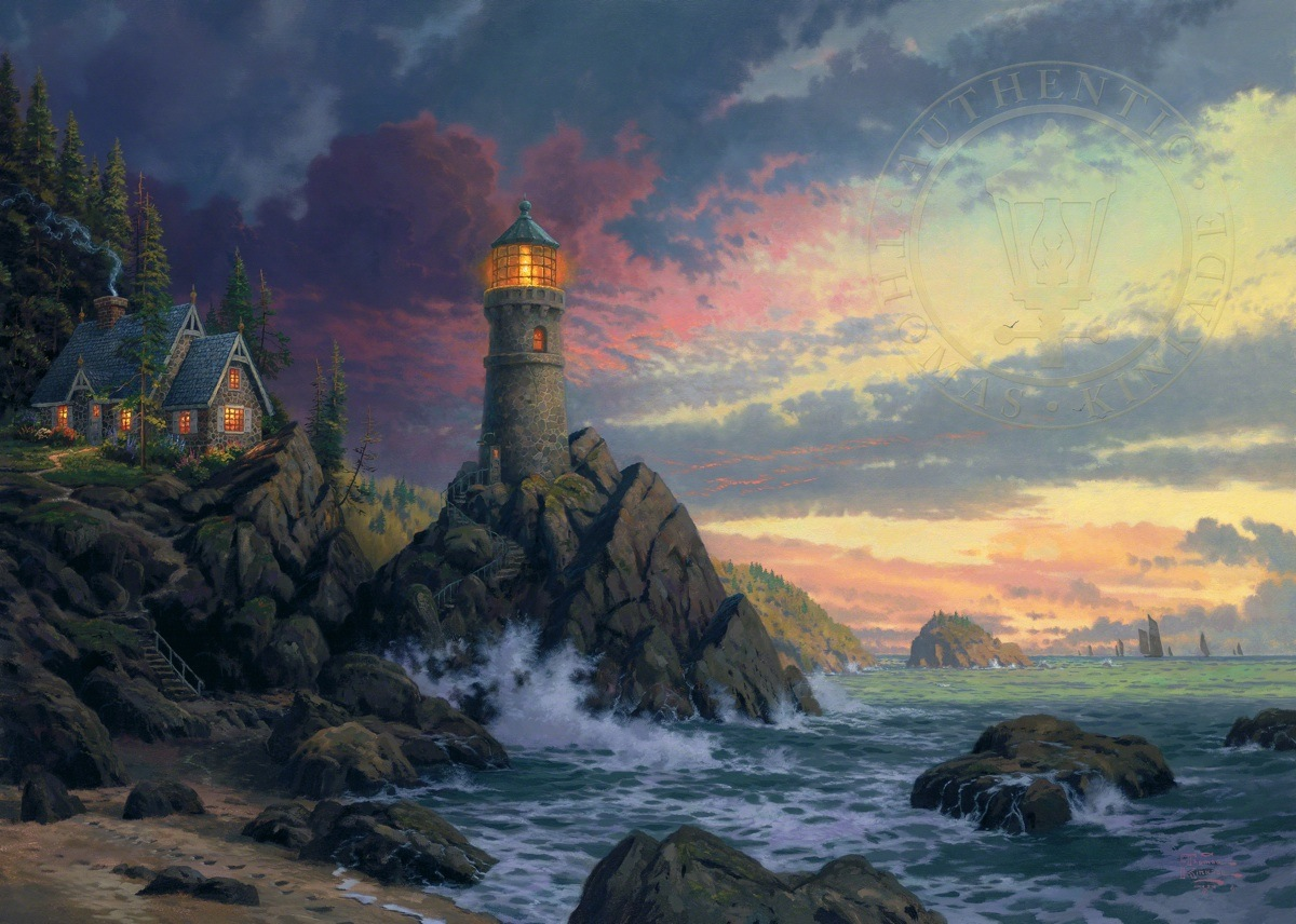 The Village Lighthouse Thomas Kinkade Paintings Images