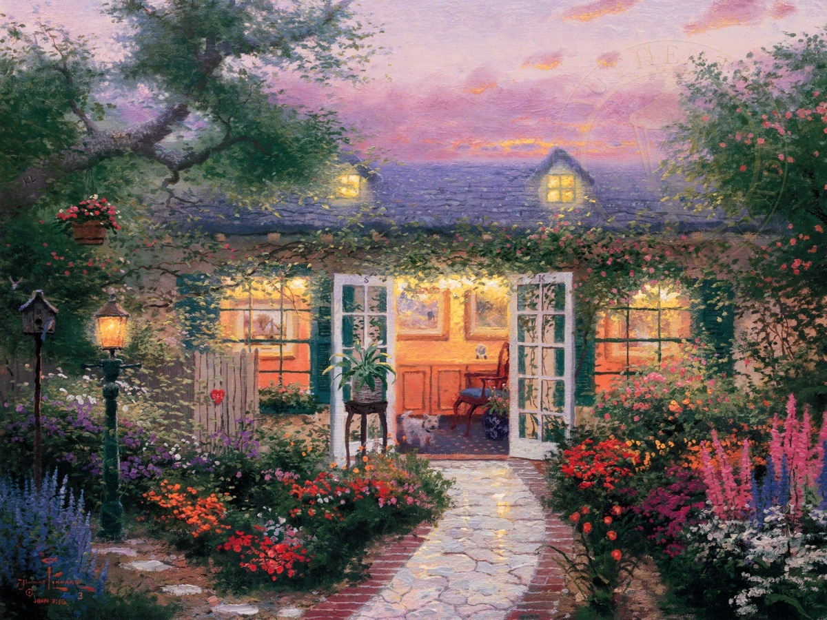 Studio In The Garden The Thomas Kinkade Company