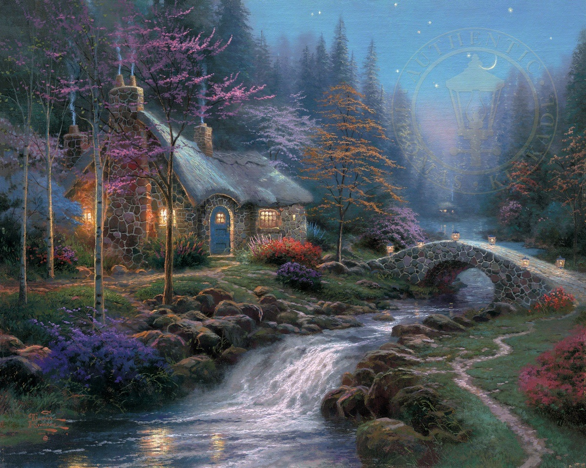 Superb Twilight Cottage Thomas Kinkade Studios Home Interior And Landscaping Ologienasavecom