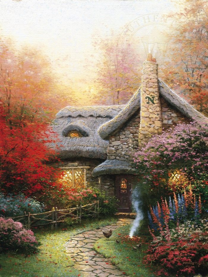 Autumn at Ashley's Cottage – Limited Edition Canvas