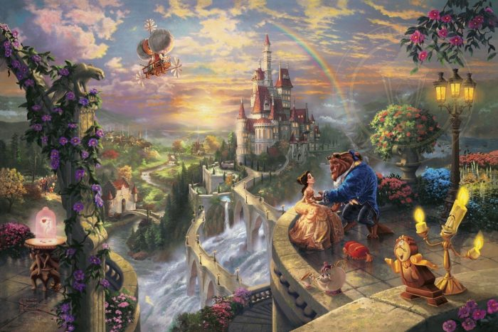 Beauty and the Beast Falling in Love – Limited Edition Canvas