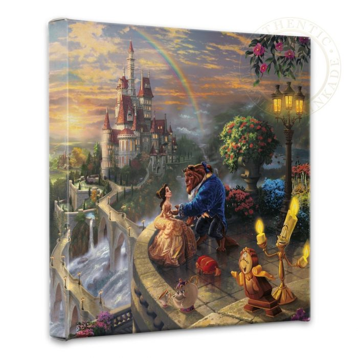 "Beauty and the Beast Falling in Love – 14"" x 14"" Gallery Wrapped Canvas"