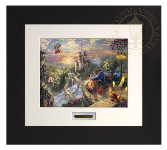 Beauty and the Beast Falling in Love – Modern Home Collection (Espresso Frame)