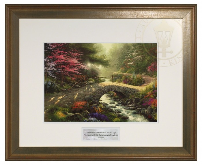 Bridge of Faith – Inspirational Print (Hudson Frame)
