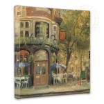 Bloomsbury Cafe – 14″ x 14″ Gallery Wrapped Canvas