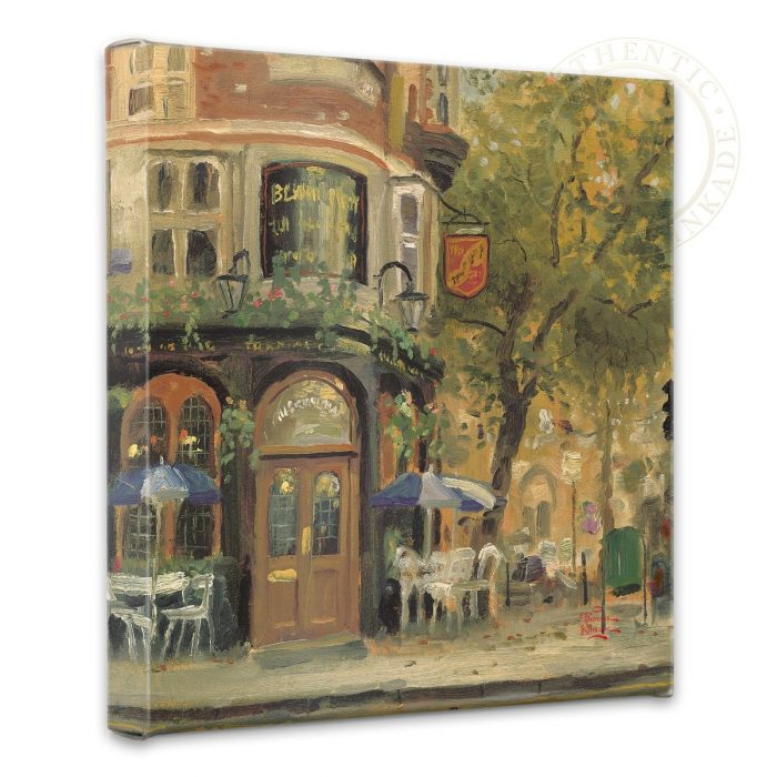 "Bloomsbury Cafe – 14"" x 14"" Gallery Wrapped Canvas"