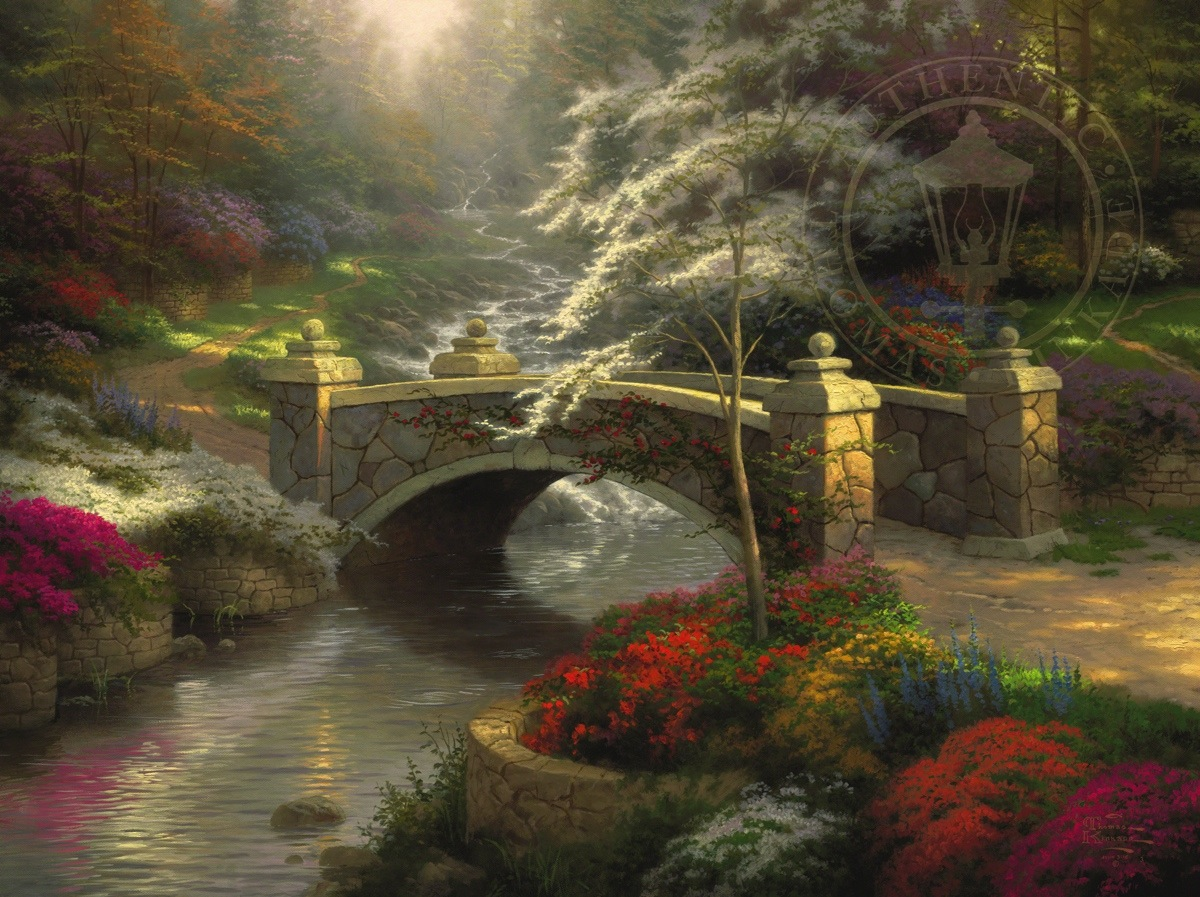 Bridge of Hope – Limited Edition Art | The Thomas Kinkade