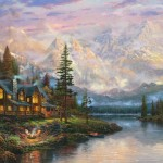 Cathedral Mountain Lodge – Limited Edition Canvas