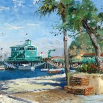 Catalina, Rosies on the Pier – Limited Edition Canvas