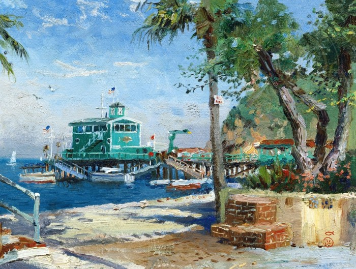 Catalina, Rosies on the Pier – Limited Edition Art