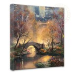 "Central Park in the Fall – 14"" x 14"" Gallery Wrapped Canvas"