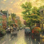 Charleston, Sunset on Rainbow Row – Limited Edition Art