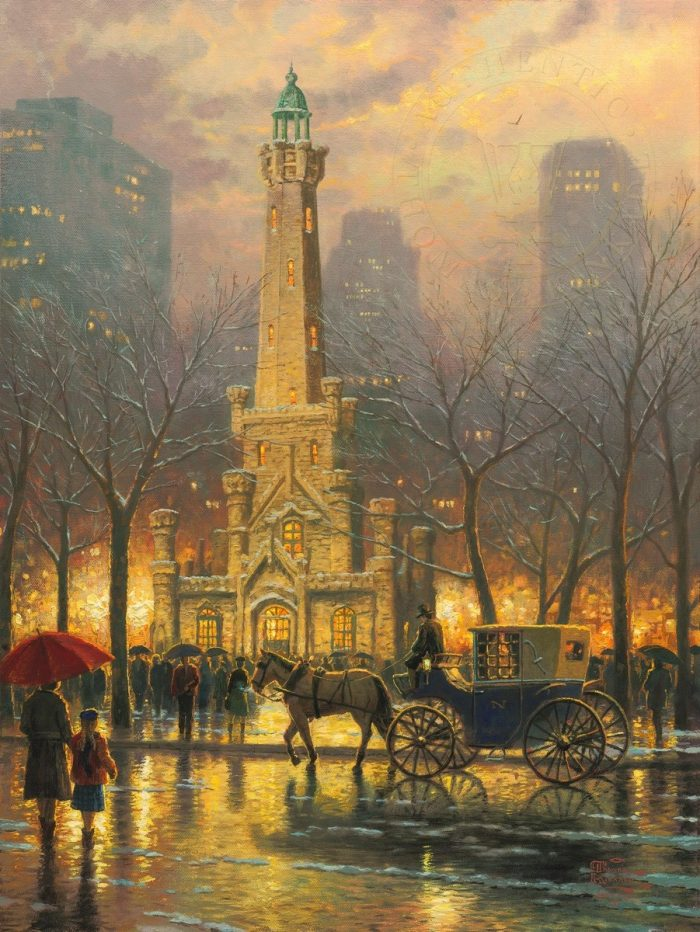 Chicago, Winter at the Water Tower – Limited Edition Canvas