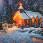 Christmas Chapel I – Limited Edition Canvas