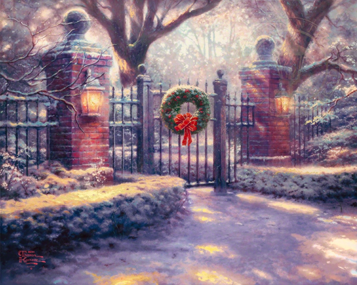 Christmas Gate – Limited Edition Art | The Thomas Kinkade Company