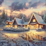 Christmas Lodge – Limited Edition Canvas