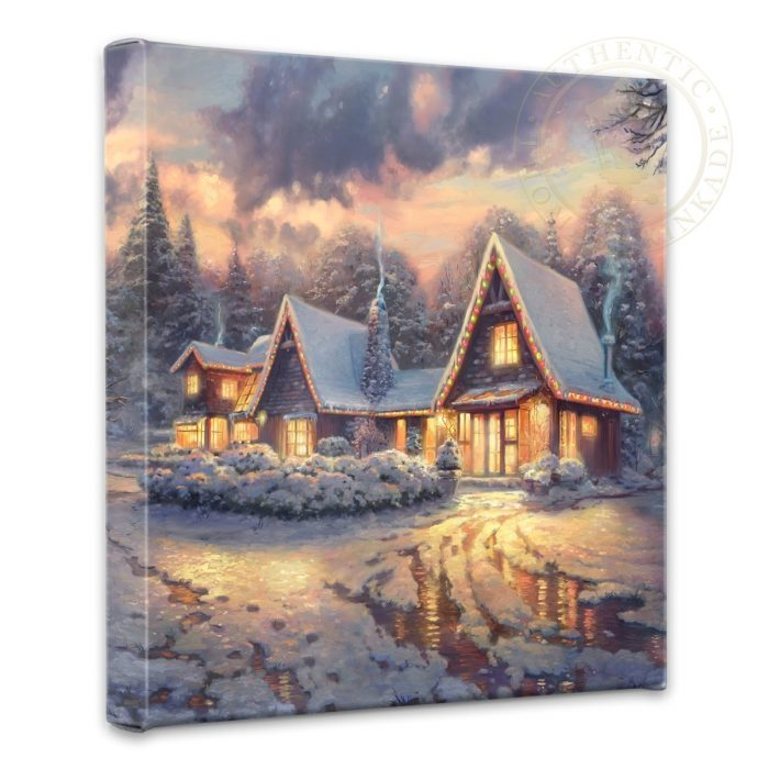 "Christmas Lodge – 14"" x 14"" Gallery Wrapped Canvas"