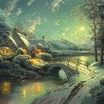 Christmas Moonlight – Limited Edition Canvas