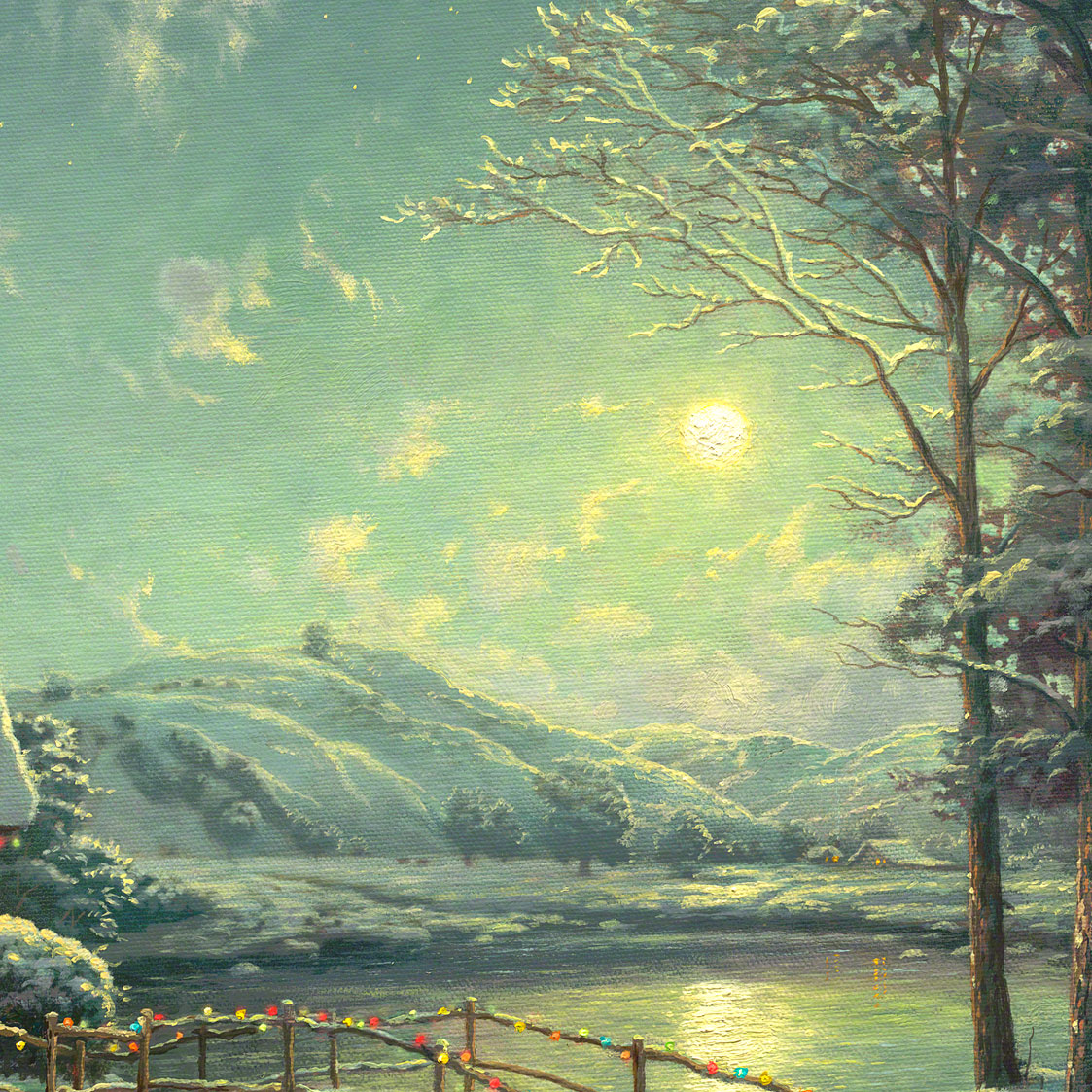 Christmas Moonlight Limited Edition Canvas Thomas