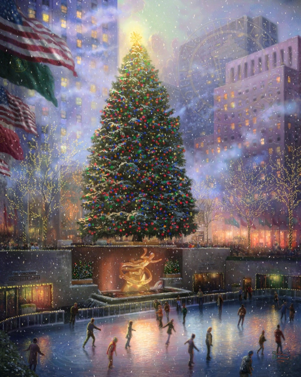 Christmas in New York – Limited Edition Art | The Thomas Kinkade ...