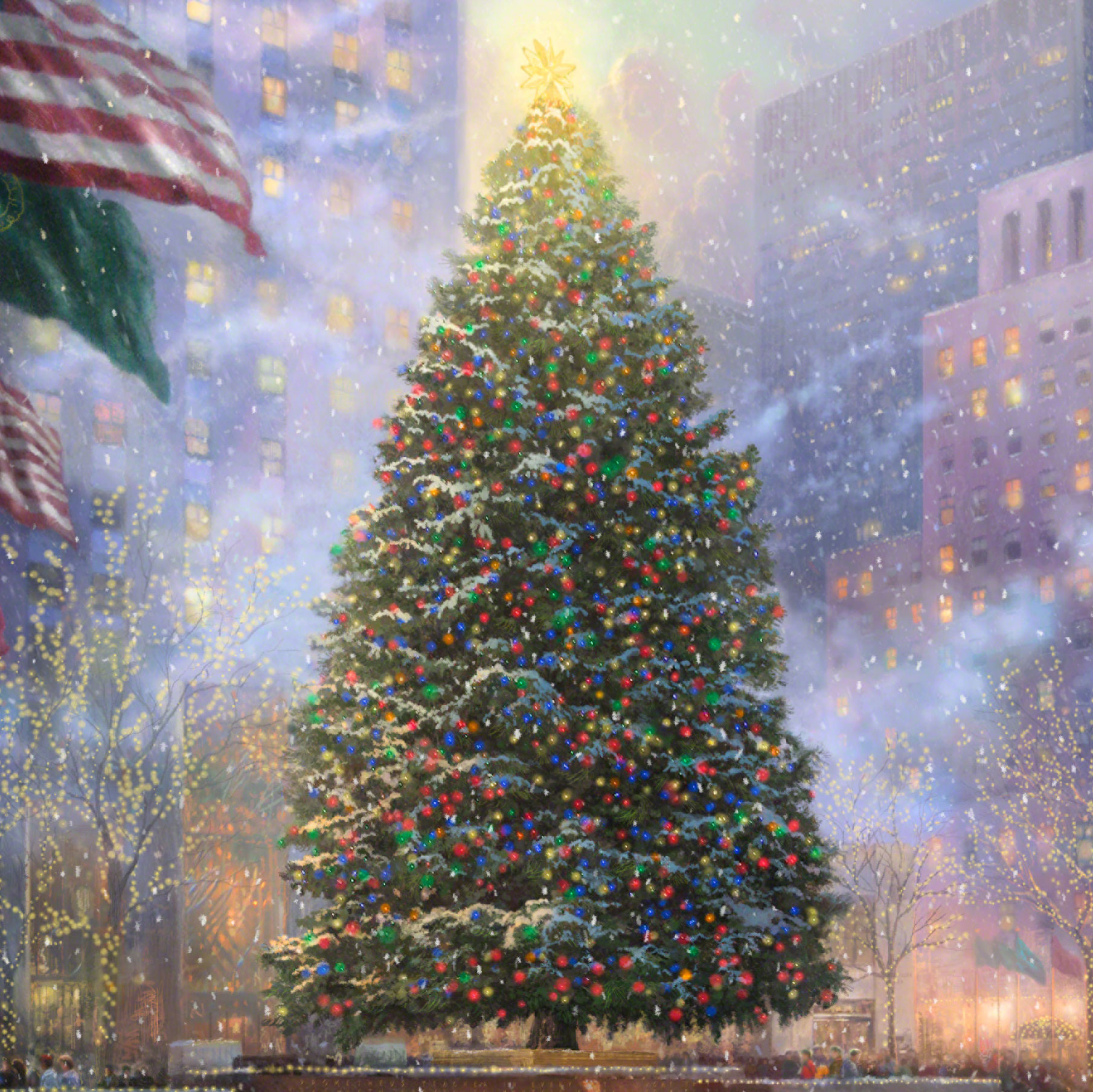 Christmas in New York – Limited Edition Art | The Thomas Kinkade Company