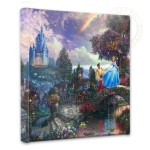 "Cinderella Wishes Upon a Dream – 14"" x 14"" Gallery Wrapped Canvas"